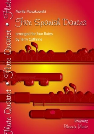 FIVE SPANISH DANCES score & parts