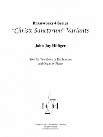 CHRISTE SANCTORUM VARIANTS