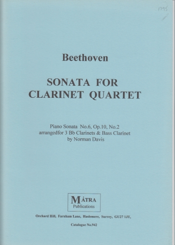 SONATA from Piano Sonata No.6, Op.10 No.2