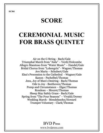 CEREMONIAL MUSIC for Brass Quintet Score