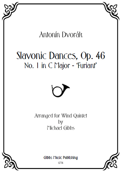 SLAVONIC DANCE Op.46, No.1 in C major: Furiant (score & parts)