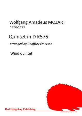 QUINTET in D K575