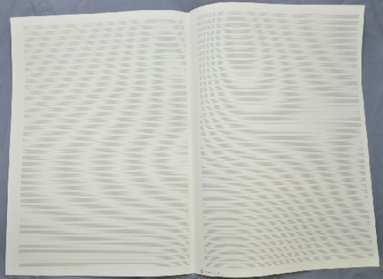 LARGE FORMAT MANUSCRIPT PAPER 40 staves, 5 double sheets