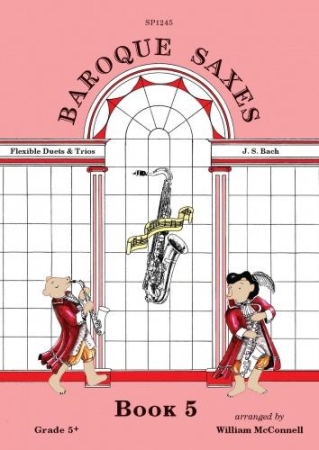 BAROQUE SAXES Book 5: J.S. Bach (score & parts)