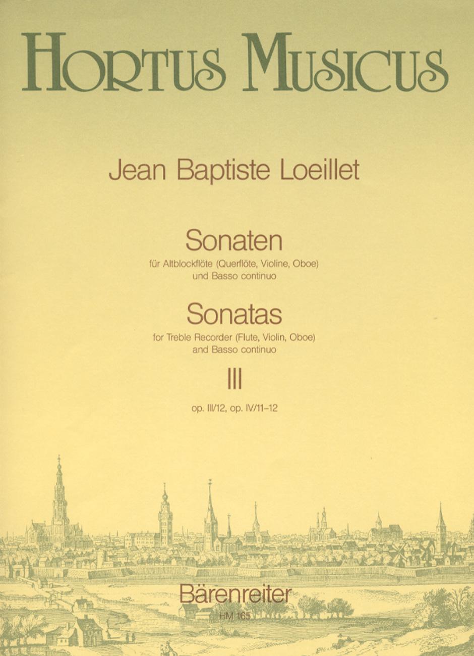 SONATAS Volume 3 Op.3/12, Op.4/11,12