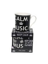 MUG Keep Calm and Play Music (Black)