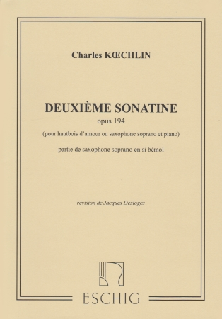 DEUXIEME SONATINE Op.194 No.2 soprano saxophone part
