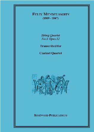 STRING QUARTET Op.12 No.1 score & parts