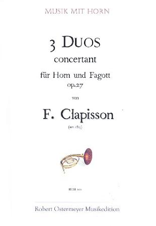 3 DUOS CONCERTANT Op.27
