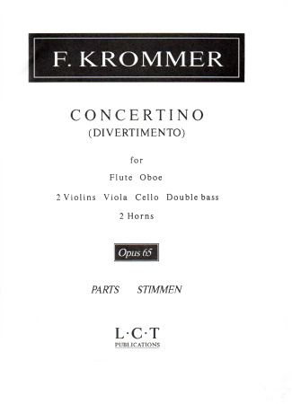 CONCERTINO (Divertimento) Op.65 parts