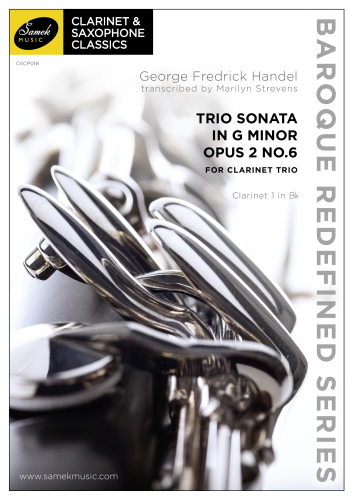 TRIO SONATA in G minor Op.2 No.6 (score & parts)