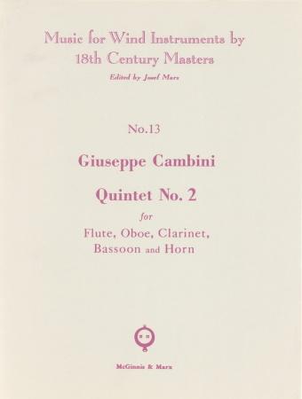 QUINTET No.2 (parts only)