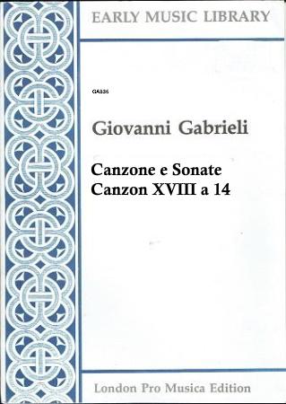 CANZONE E SONATE Canzon XVIII a 14 (score & parts)
