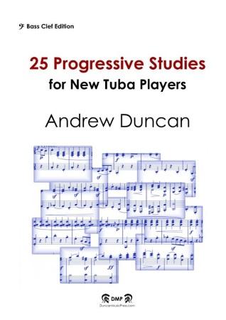 25 PROGRESSIVE STUDIES (bass clef)