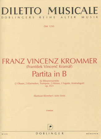 PARTITA in Bb major Op.45 No.3 set of parts