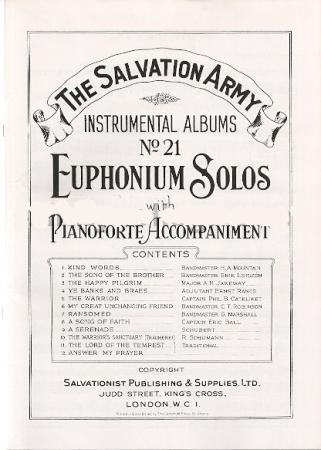 INSTRUMENTAL ALBUM No.21 Euphonium Solos