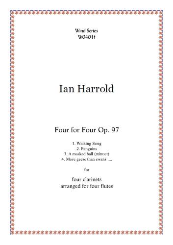 FOUR FOR FOUR Op.97 (score & parts)