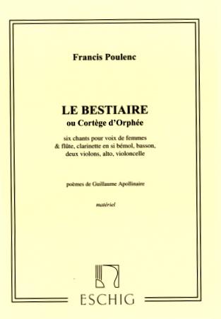 LA BESTIAIRE or 'Cortege d'Orphee' Set of Parts