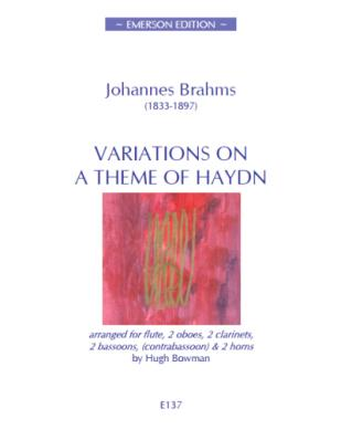 VARIATIONS ON A THEME OF HAYDN (score & parts)