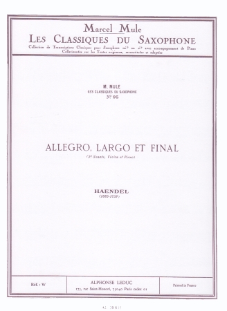 ALLEGRO, LARGO ET FINAL