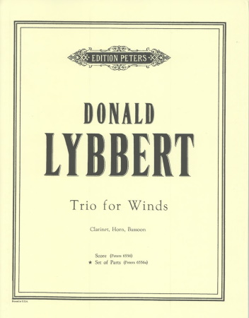 TRIO FOR WINDS (set of parts)