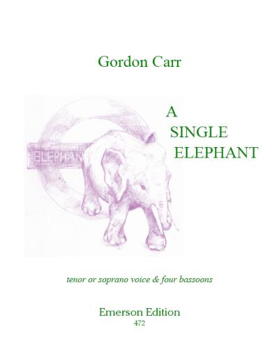 A SINGLE ELEPHANT score & parts