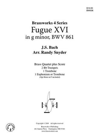 FUGUE XVI in G minor, BWV861