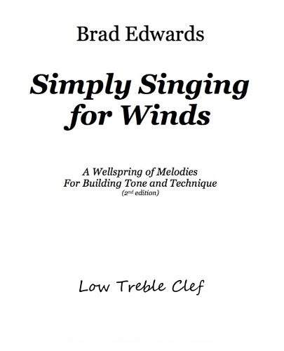 SIMPLY SINGING FOR WINDS Low Treble Clef