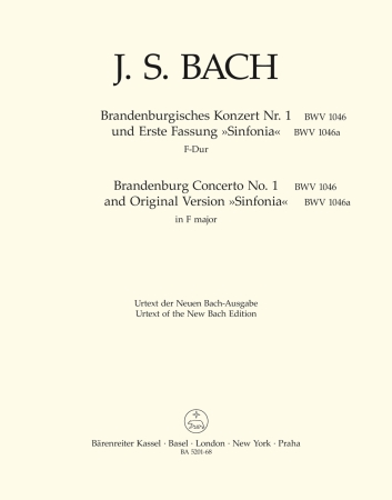 BRANDENBURG CONCERTO No.1 - Cello/Bass
