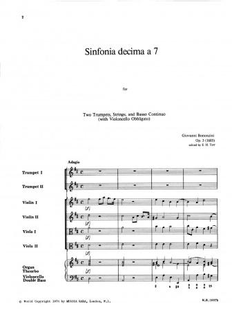 SINFONIA DECIMA a 7 Op.3 (score & parts)