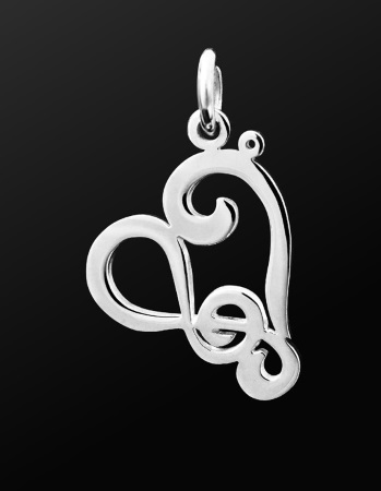 STERLING SILVER PENDANT Passionate