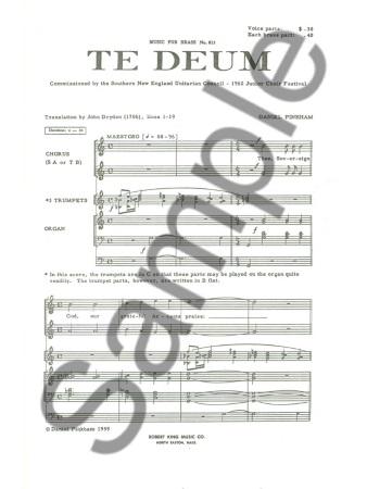 TE DEUM (vocal score)