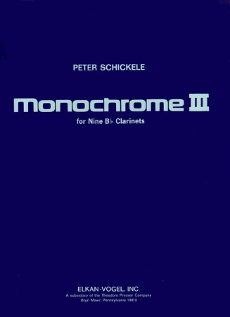 MONOCHROME III (score & parts)