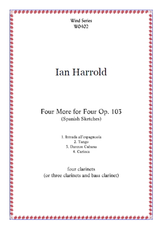 FOUR MORE FOR FOUR Op.103 (score & parts)