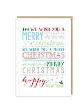 CHRISTMAS CARD We Wish You A Merry Christmas