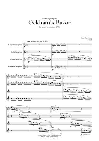 OCKHAM'S RAZOR score & parts