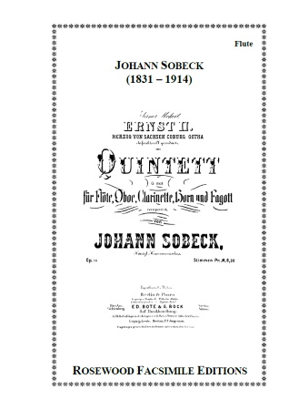 WIND QUINTET in G minor Op.14 (parts only)