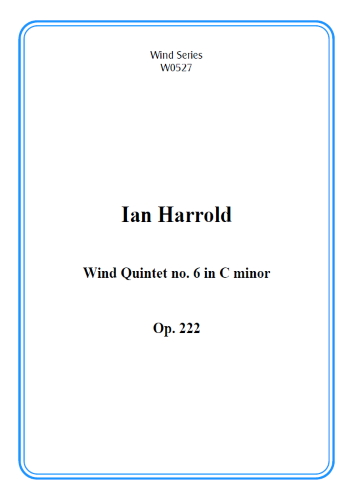 WIND QUINTET No.6 in C minor Op.222 (score & parts)