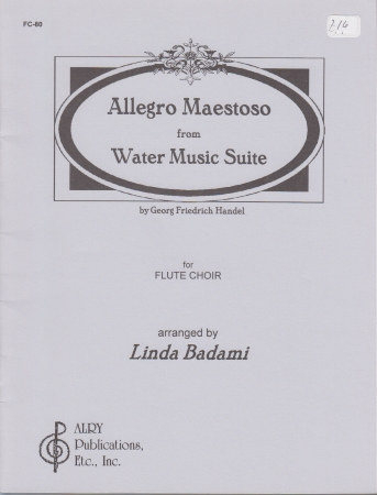 ALLEGRO MAESTOSO from Water Music Suite