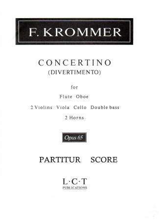 CONCERTINO (Divertimento) Op.65 score