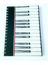 A6 HARDBACK SPIRAL BOUND NOTEBOOK Piano Keys