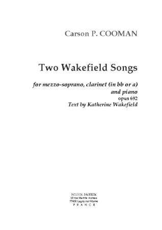 TWO WAKEFIELD SONGS