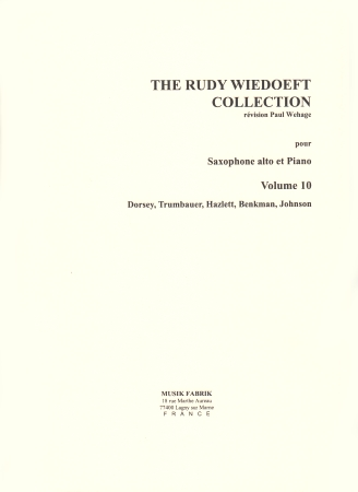 THE RUDY WIEDOEFT COLLECTION Volume 10