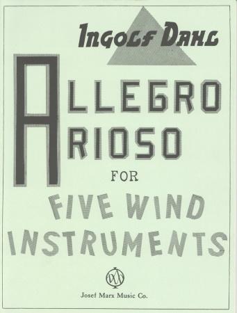 ALLEGRO AND ARIOSO (score & parts)