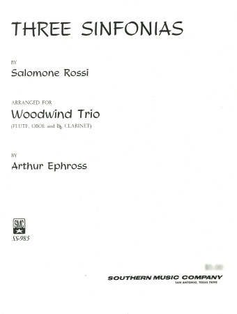 THREE SINFONIAS (score & parts)