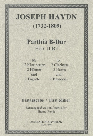 PARTHIA in Bb major, Hob.II:B7