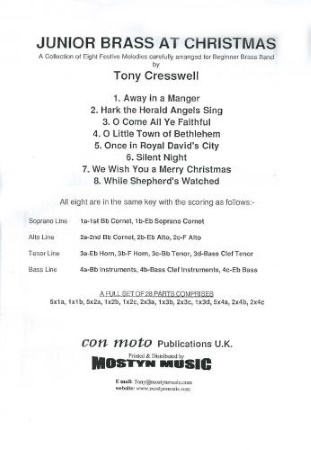 JUNIOR BRASS AT CHRISTMAS (score & parts)