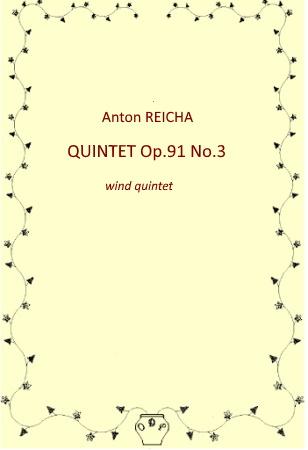 QUINTET Op.91 No.3 (score & parts)