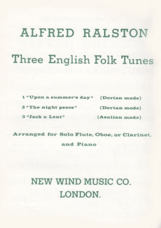 THREE ENGLISH FOLK TUNES