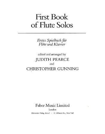 FIRST BOOK OF FLUTE SOLOS flute part only
